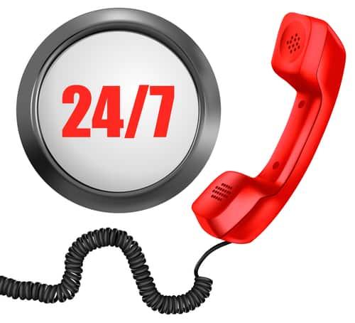 24-7 phone icon